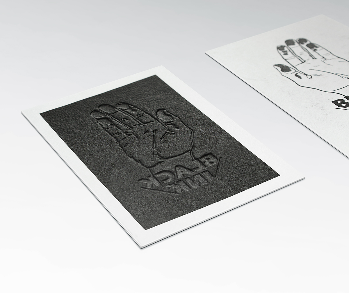 Dicey black ink business card colourmoves